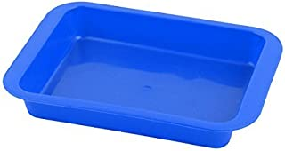DealMux Plastic Home Restaurant Kitchenware Food Snacks Pastry Bread Serving Tray Blue