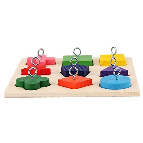 NIDONE Vogel Houten Blok Speelgoed Papegaai Intelligentie Training Educatief Speelgoed Spelen Foerageringbenodigdheden…