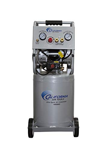 California Air Tools 10020ACAD Ultra Quiet & Oil-Free 2.0 Hp, 10.0 Gal. Aluminum Tank Air Compressor w/Auto Drain