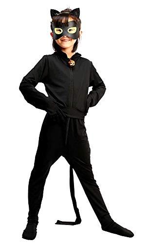 Chat noir kostüm - cosplay - kinderkostüme - halloween - karneval - größe s 6/7 jahre - originelle geschenkidee chat noir lady bug cosplay