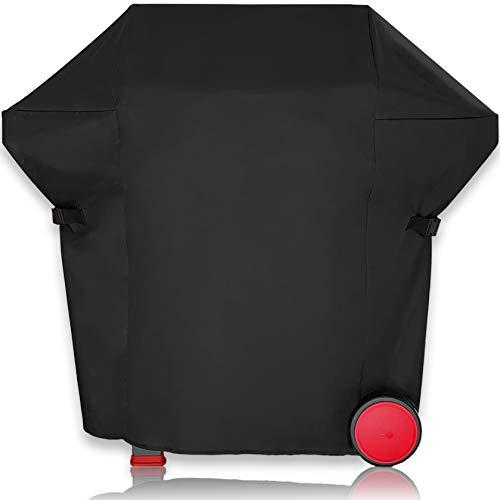 AMZBBQ® Premium Grillabdeckung, 100% Wetterfeste und UV-beständige Grillplane, wasserdichte Grillhaube für Ihren Gasgrill, Hochwertige Polyester Grill Abdeckhaube mit PU-Beschichtung (XL)