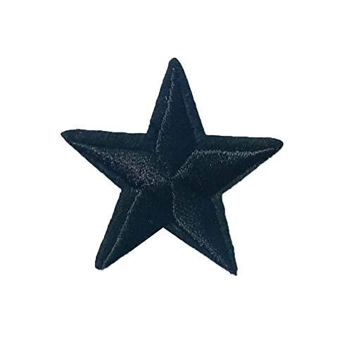 Ruikey 10Pcs Parches Estrellas Parches De Tela Bordada Para Los Pantalones Vaqueros De La Camiseta Diy Accesorios Decorativos(Negro)