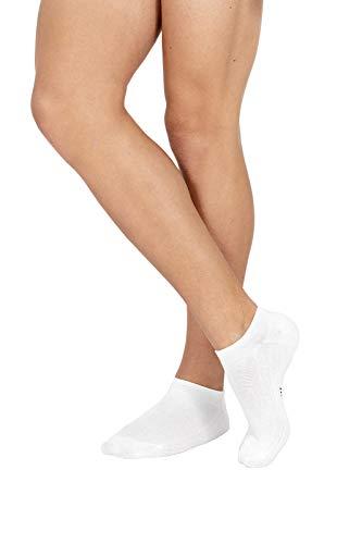 6 paia minicalza fantasmini POMPEA cotone fitness (TG.47/49, BIANCO)