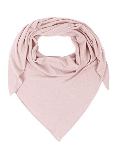 Zwillingsherz Dreieckstuch mit Kaschmir - Hochwertiger Schal im Uni Design für Damen Jungen und Mädchen - XXL Hals-Tuch und Damenschal - Strick-Waren für Sommer und Winter - 150cm x 120cm - rosa