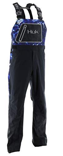 Huk Men's Hydra Reflective Bib | Water Proof & Wind Resistant Heavy Duty Rain Bib - 10k/10k Waterproof & Breathability Rating, Mossy Oak Hydro Reflex, 2X-Large