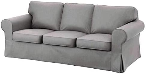Best HomeTown Market Sofa Covers Custom Made Compatible for IKEA Ektorp 3 Seat Sofa Slipcovers (Polyester