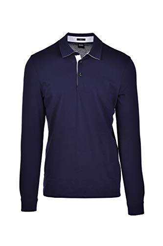 Hugo Boss Poloshirt Pavel Slim Fit Langarm - Dunkelblau, Blau Small