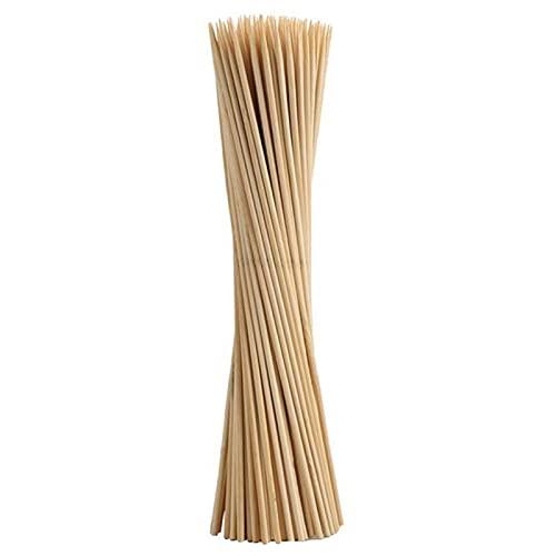 laoonl 500/1000pcs Natural BBQ Brochetas de bambú, palitos de madera, pinchos de madera, para varias frutas, kebabs Grill altamente renovable recurso natural
