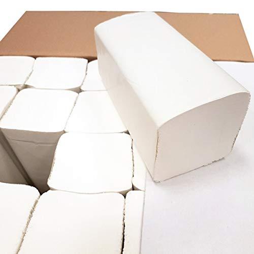 Premium-Papierhandtücher, Falthandtücher, Top-Handtuchpapier, Papiertücher, 2-lagig, Zellstoff, 25 x 21 cm, 3.200 Blatt