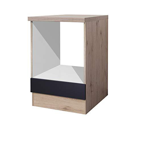 Herdumbauschrank MMR Küchen-Herdumbauschrank LONDON - Küchenschrank - Unterschrank - Breite 60 cm - Anthrazit