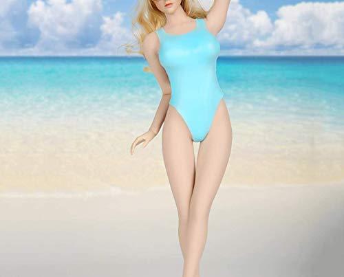 Kleding Model 1/6 Schaal Meisje Kleding Model Speelgoed Koel Blauw Bikini Kleding Set voor 12
