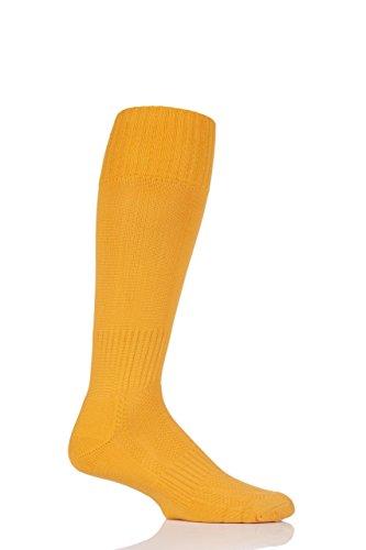 Men's 1 Pair SockShop of London Made in the UK Plain Football Socks - Gold 6-11