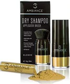 Ambiance Dry Shampoo Applicator/Refill Combo Pack (Blonde), Volumizing Tinted Powder Absorbs Excess Oil To Clean and Refre...