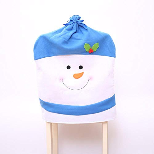 VHJ Chair Cover Christmas Decorations For Home snowman Large Hat Hotel Table Decoration,Blue