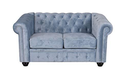 Unbekannt Chesterfield Sofa Samt Couch Polstersofa Sitzmöbel British Chic fha013 Palazzo Exklusiv