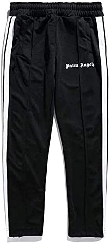 XVCB Jogger Hose Herren Damen Angels Palm Engels Sporthose, Fitness Slim Fit Hose Freizeithose Trainingshose Sweathose Joggers Streetwear (M,Schwarz)