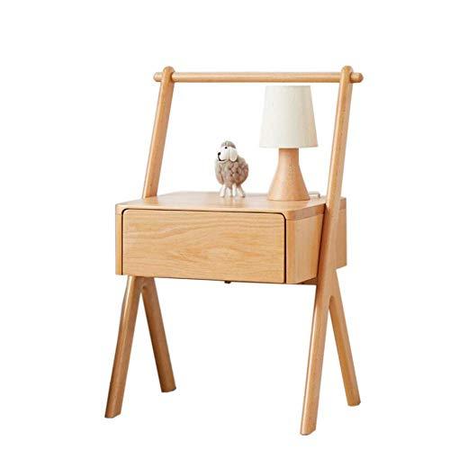 Mesa de decoración de muebles Mesita de noche para niños con cajón Dormitorio moderno con armarios de almacenamiento Muebles de madera maciza Diseño de columpio creativo Habitación para niños (Colo