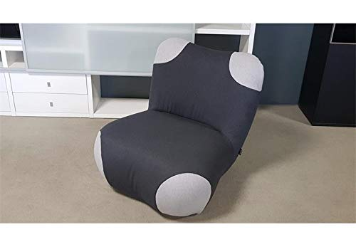 Möbel Akut Sessel Pandabär freistil 171 von ROLF Benz Schwarzgrau Ecken telegrau