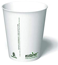 Ecotainer Carte Blanc Compostable Hot Cups