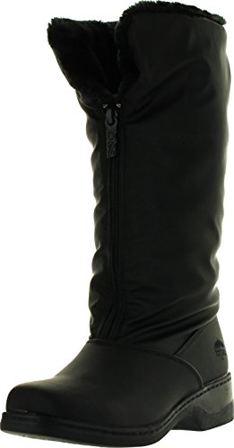 totes Womens Cold Weather Boots with Front Zipper (Cynthia) Waterproof Insulated Tall Winter Boots for Comfort, Durability - Keeps Feet Warm & Dry