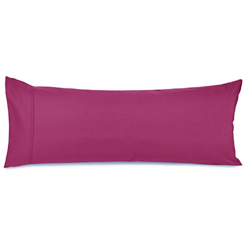 Nestl Premium Body Pillowcase - Double Brushed Microfiber Cool Body Pillow Covers - 20 x 54 in - Breathable Ultra Soft Bed Pillow Cases - Vivacious Magenta