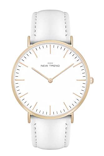New Trend - Love for Accessories Damen Uhr analog Quarzwerk mit Kunst-Leder Armband UD-JX0D-PLZY