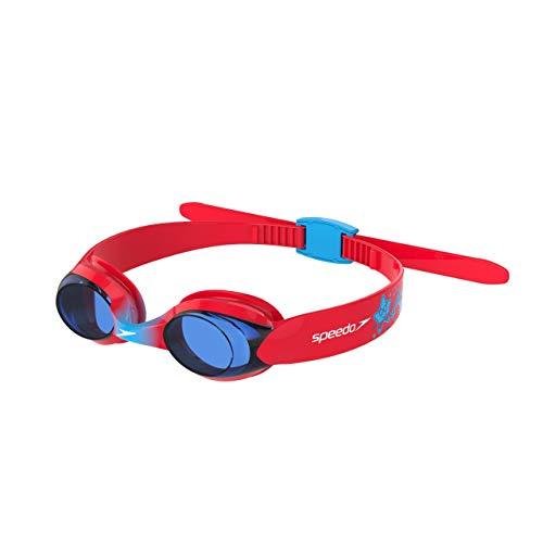 Speedo Unisex-Youth Sea Squad Illusion Schwimmbrille für Kinder, rot/blau, Einheitsgröße