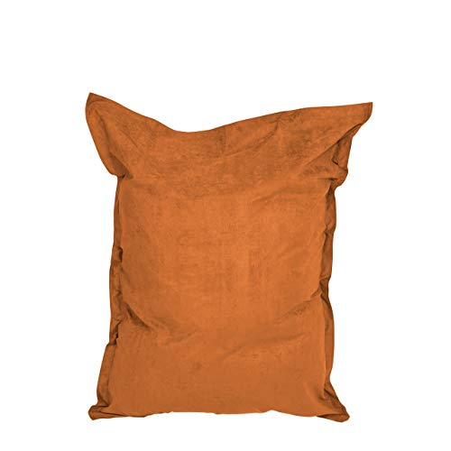 Lumaland Luxury Riesensitzsack XXL Microvelours Sitzsack 380l Füllung 140 x 180 cm Indoor Orange