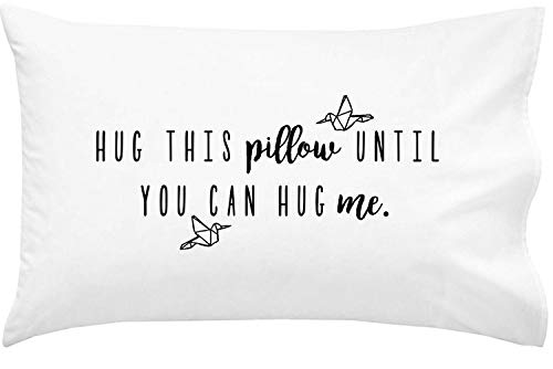 Oh, Susannah Hug This Pillow Until You Can Hug Me – LDR Kissenbezug 20 x 30 Standard/Queen Size – einfache Verpackung