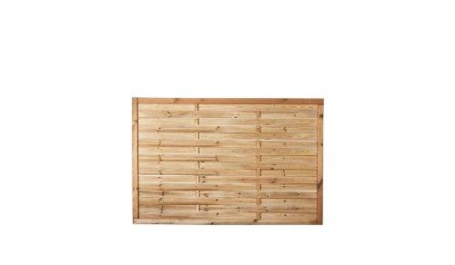 Preiswerter Lamellenzaun/Vorgartenzaun in den Maßen 180 x 120 (Breite x Höhe) aus druckimprägniertem Kiefer/Fichte Holz Hamburg II