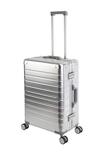 Travelhouse Oslo T6005 - Trolley rigido in alluminio, disponibile in diverse misure e colori, argento (Argento) - Oslo T6005