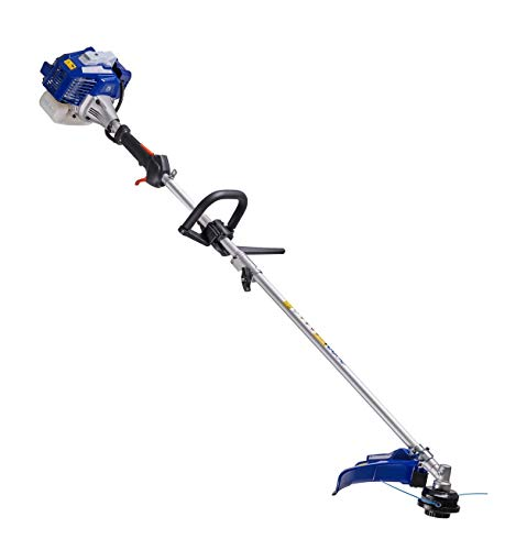 Wild Badger Power WBP26BCI 26cc 2 in 1 Straight Shaft Brush Cutter and Grass Trimmer, Blue