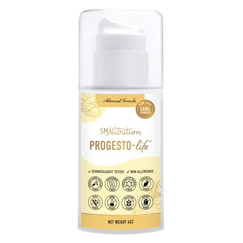 Progesterone Cream (Bioidentical) 4oz Pump of 2000mg USP Bio-Identical Progesterone. Paraben-Free, Soy-Free & Non-GMO. May Support PCOS, Menopause, TTC