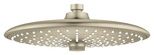 Grohe 26457EN0 Euphoria 260 Shower Head with 3 Spray Patterns, 2.5 gpm, Brushed Nickel InfinityFinish
