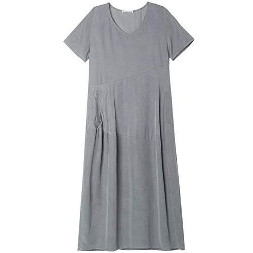 BINGQZ Cocktail Jurken Dames zomerjurk vrouwen losse grote maat lange rok temperament effen kleur rok