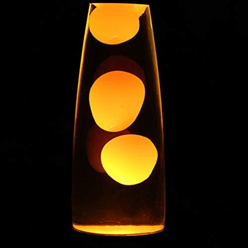 Nette Metallhaltig Lava-Lampe Wax Vulkan-Art-Nachtlicht Quallen Nacht Glare Glühlampen Lava Beleuchtung Lampen (Farbe: Orange)