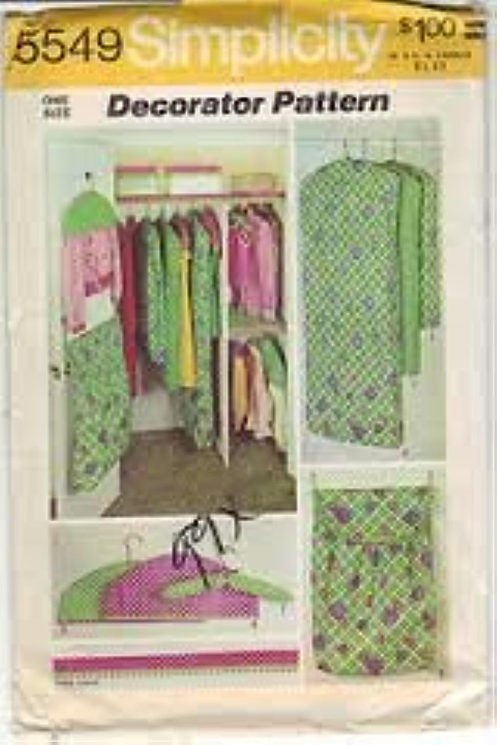Simplicity 5549 Decorator Pattern Set of Closet Organizers