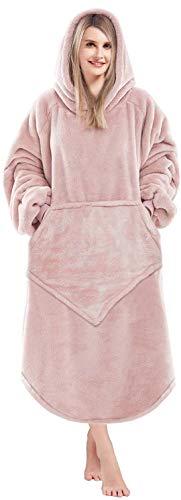 Lushforest Sudadera con capucha de gran tamaño, manta de forro polar, supersuave, cálida, cómoda y con bolsillo frontal grande, talla única para todos los hombres, mujeres, niñas, niños