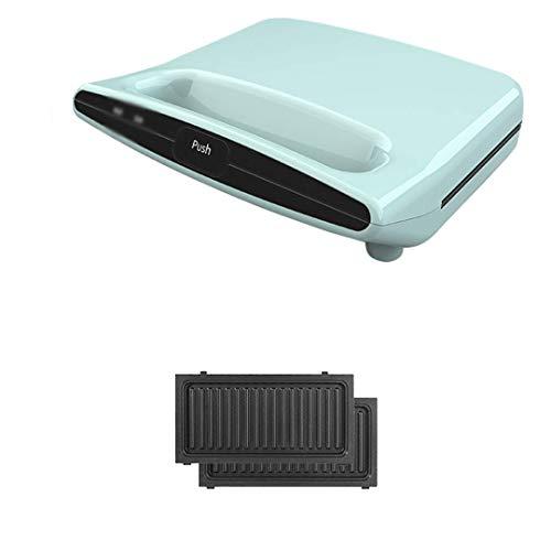 zyl Gofrera 2 en 1 Grill con Placa Desmontable Antiadherente y fácil de Limpiar Calentamiento Uniforme por Ambos Lados Placa de cocción Profunda