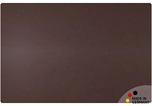 matches21 - Vade de Escritorio de Piel auténtica, 60 x 40 cm, Color marrón Oscuro