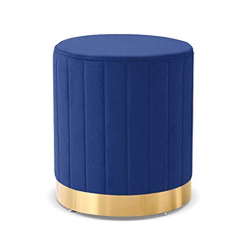 ZzheHou Taburete De Sofá Taburete de pie otomano Suave Compacto Acolchado Acolchado Asiento Dormitorio y Sala de niños Muebles Decorativos tapizados (Color : Azul, Size : 35x33cm)