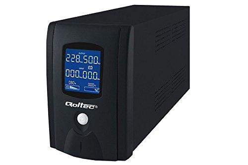 UPS QOLTEC 600VA 360W / 1xIEC / 2xSchuko / LCD