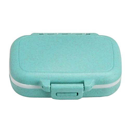 BANGSUN Portable Pill Box Rectangle 3 Compartments Travel Tablet Container Medicine Plastic Blue