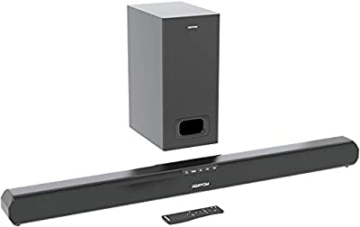 AZATOM Studio Premier 2.1 Soundbar and Subwoofer, 120W, 3D Surround Sound, Stream Wireless Bluetooth, Remote Control, Wall Mountable, HDMI ARC, Optical compatible (32inch) from Azatom