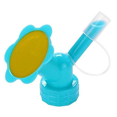 MINGMIN-DZ Dauerhaft 10 Stück Kunststoff-Flasche Wasser Sprinkler Flowerpot Pflanzen Kühldüse Gießkannen Schnabel Dropper Bewässerungs-Flaschen-Kopf Gartengeräte (Color : Blue)