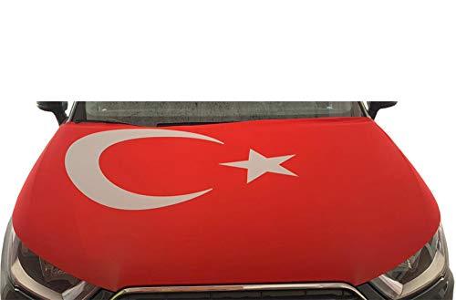 Sonia Originelli WM Motorhauben Überzieher Fußball Fan Auto Fahne Länder Flagge Farbe Türkei