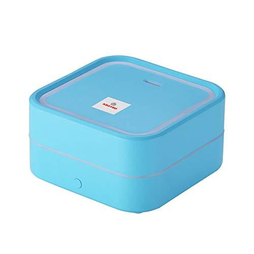 Humidificador de aire Acondicionador Aroma Difusor de aceite esencial Mist Difusor de aromaterapia con 7 colores LED para el hogar-Azul