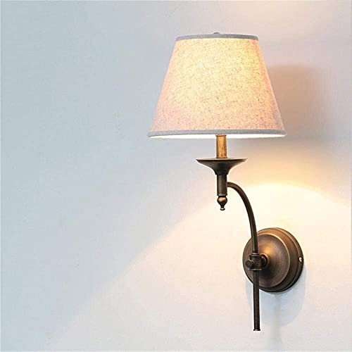 hwljxn Lámparas American Country Dormitorio Cubo de Cama Lámpara de Pared Creativa Interior Sala de Estar Aisle Escalera Lámpara de Pared