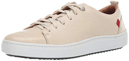 Marc Joseph New York Mens Genuine Leather Made in Brazil Union Square Sneaker, Off White Grainy, 8 M US