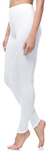 Merry Style Leggings Lunghi Pantaloni Donna MS10-263 (Bianco, XS/164)